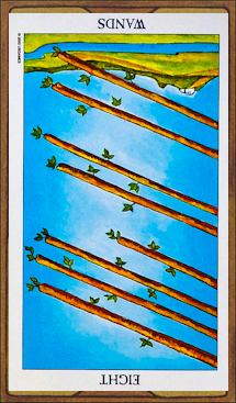 Eight of Wands (reversed)