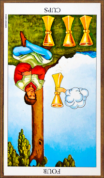 Four of Cups (reversed)