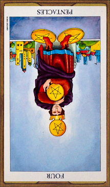 Four of Pentacles (reversed)