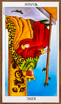 King of Wands (reversed)