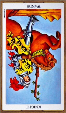 Knight of Wands (reversed)