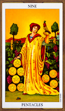 Nine of Pentacles - Tarot Card Meaning & Interpretation