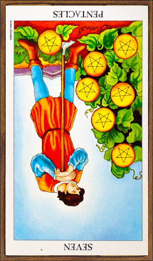 Seven of Pentacles (reversed) - Tarot Card Meaning