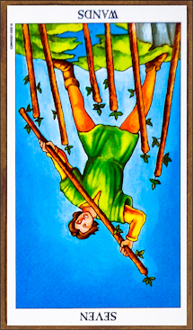 Seven of Wands (reversed)