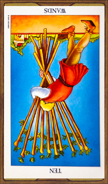 Ten of Wands (reversed)